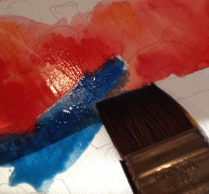 Mixing Napthol Red and Cerulean Blue