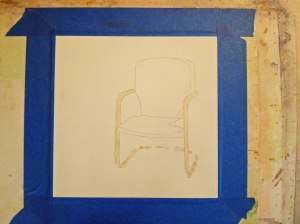 Drawing of Turquoise Chair