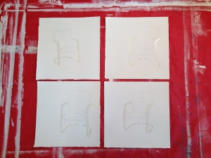 Four Single-Chair Drawings