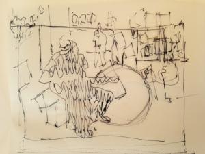 Rain jazz sketch