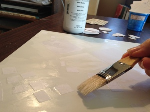 Adding rectangle shapes into wet gesso