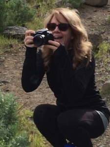 Me, taking photos mid-laugh