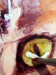 Detail of eye