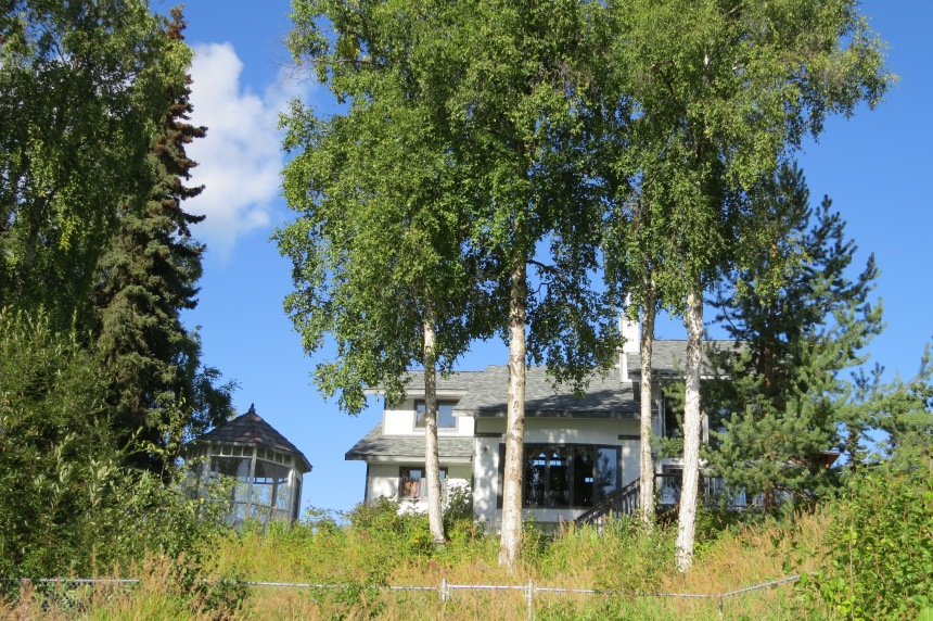 Back view of the house we rented on the Kenai River.