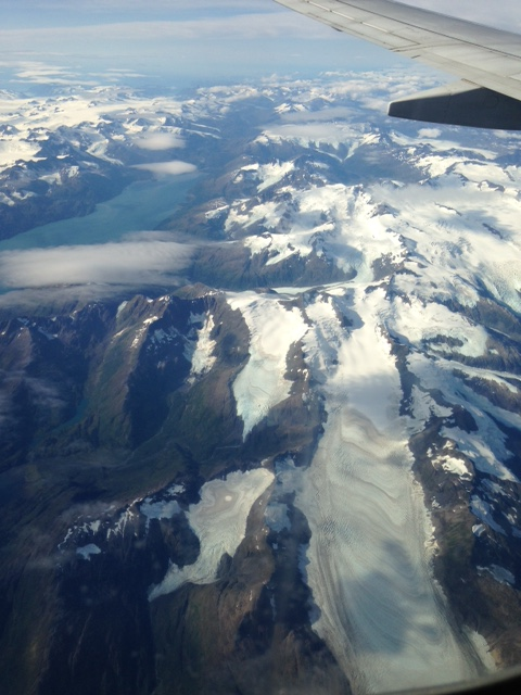 View from the plane of Alaska