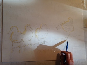 Drawing out the ducklings