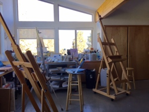 Janice's studio. Beautiful, isn't it!!