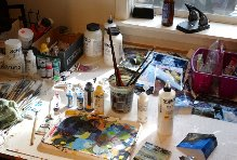 Susan Higdon's work space