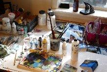 Susan Higdon's work space