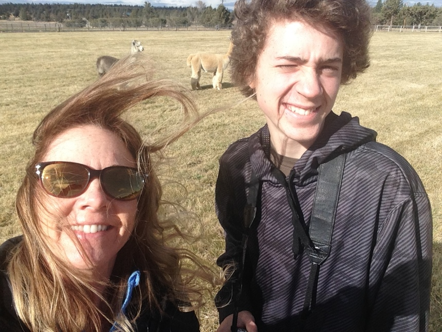 My son and myself selfie