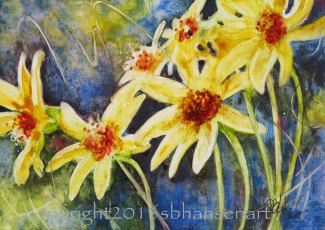 Sunnyside Up, 5x7, SOLD