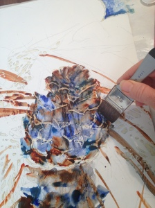 Painting the pinecone