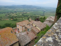 Tuscan valley below the town