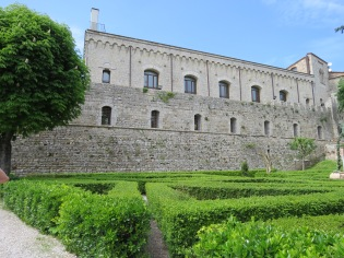 Gardens at the top of Montepulciano