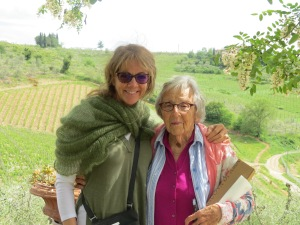 Mom and I in Tuscany